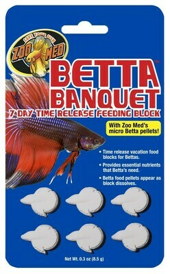 ZOO MED BETTA BANQUET 7DAY RELEASE FEEDING BLOCK 8.5G