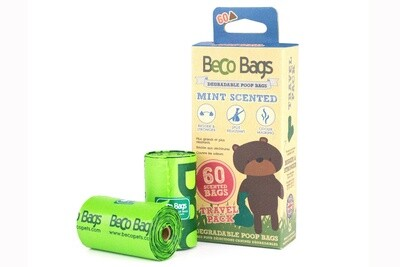 BECO BAGS MINT SCENT TRAVEL 60 PK.