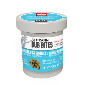 NUTRAFIN BUG BITES TROPICAL FISH FORMULA MED/LG 45G.