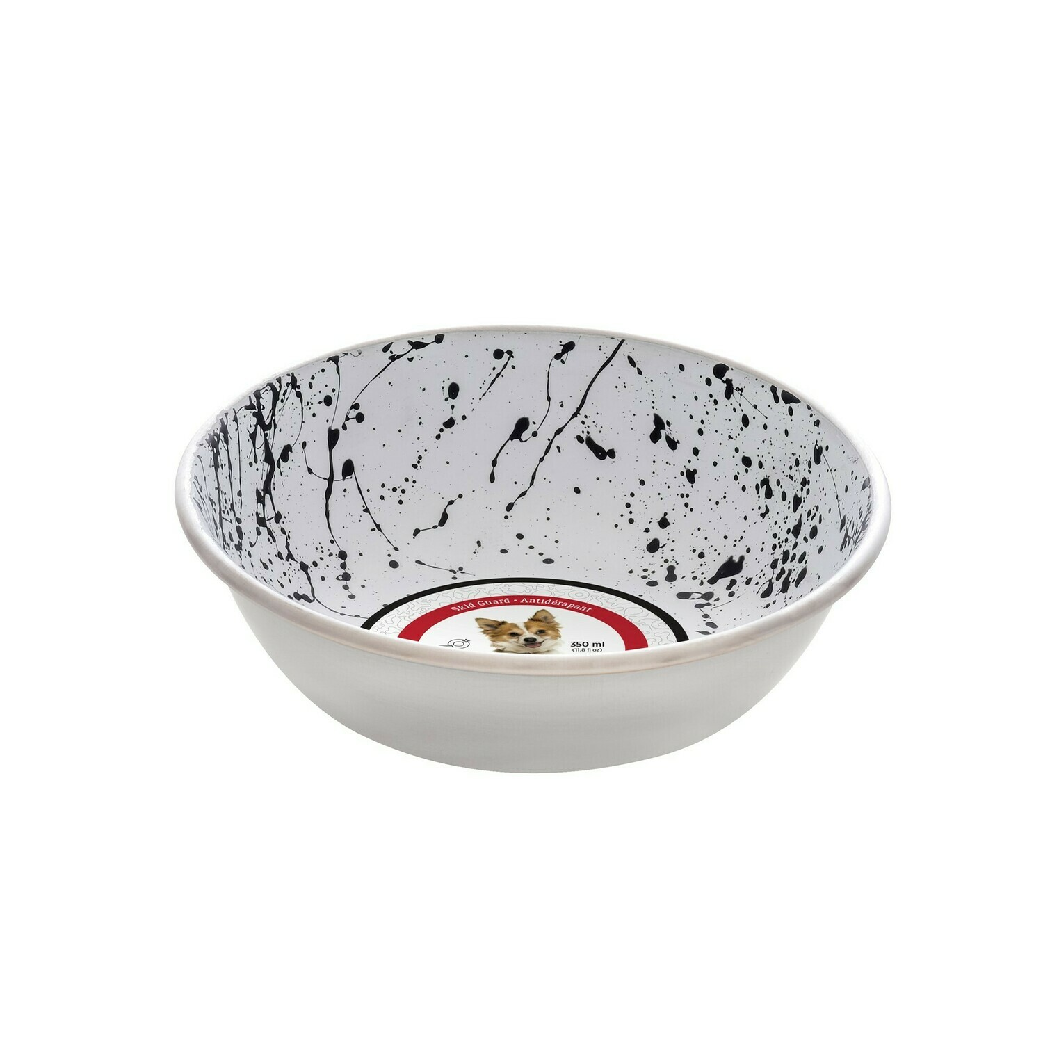 DOGIT STAINLESS STEEL BOWL BLACK & WHITE 350ML.