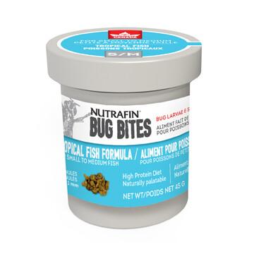 NUTRAFIN BUG BITES TROPICAL FISH FORMULA SM/MED 45G.