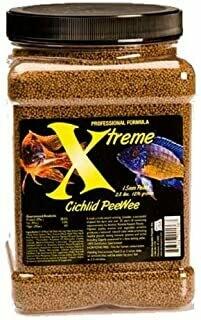 XTREME AQUATIC FOOD CICHLID PEE WEE PELLET 5.6OZ.