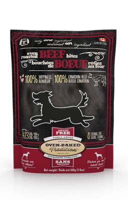 OVEN BAKED DOG TREAT - BEEF LUNG BITES 7.8OZ.