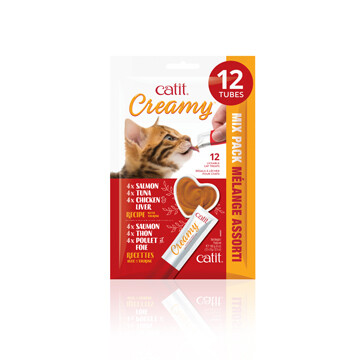 CATIT CREAMY CAT TREAT MIXED PACK -12PK..