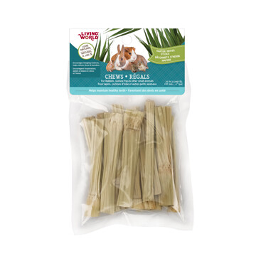 LIVING WORLD SM ANIMAL CHEW NAPIER GRASS STICKS 20PK.