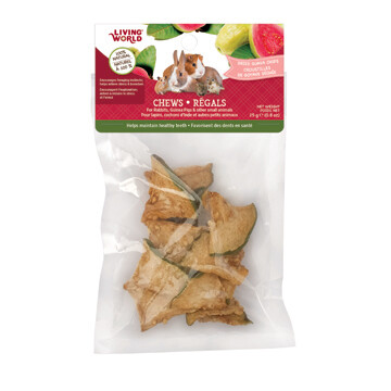 LIVING WORLD SM ANIMAL CHEW GUAYA CHIPS 25G.