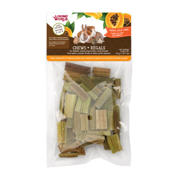 LIVING WORLD SM ANIMAL CHEW PAPAYA CUBES 20G.
