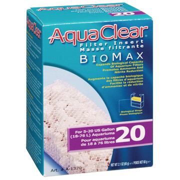 AQUACLEAR BIOMAX 20.