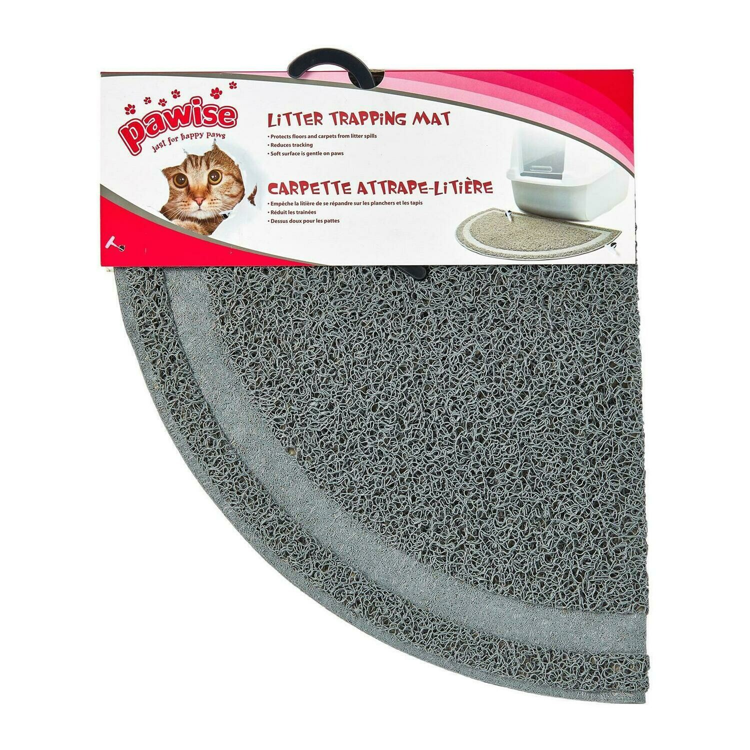 PAWISE TRAPPING LITTER MAT.