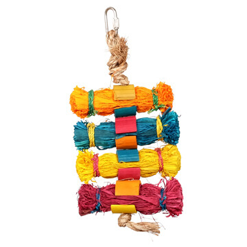 LIVING WORLD BIRD TOY TREASURE STARS W/ TASSLE SM.
