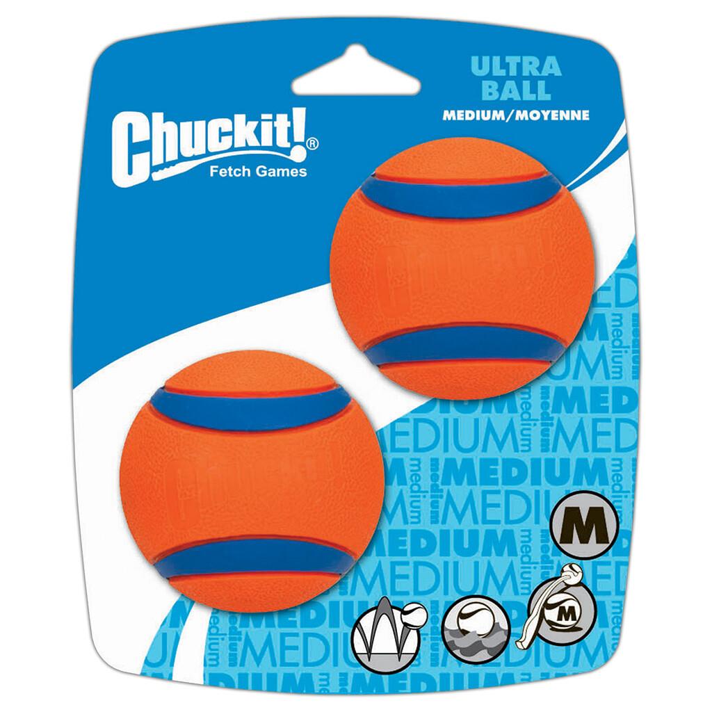 CHUCKIT ULTRA BALL MED 2PK.