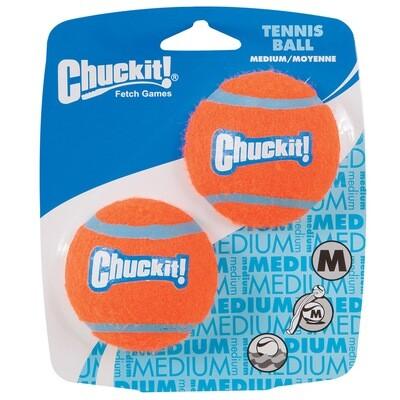 CHUCKIT TENNIS BALL MED 2PK.