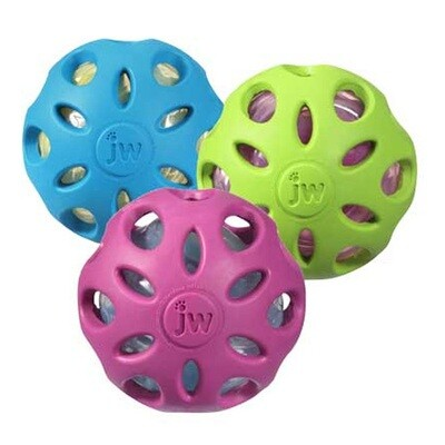 JW RUBBER CRACKLE BALL SM.