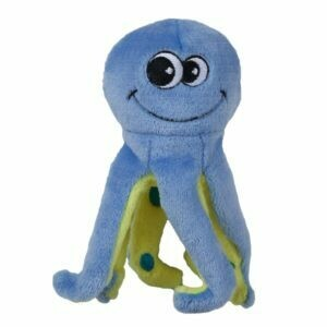TENDER TUFF CURLY LEG OCTOPUS DOG TOY.