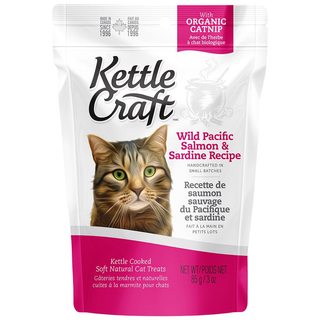 KETTLE CRAFT CAT TREAT SALMON & SARDINE 85GM.