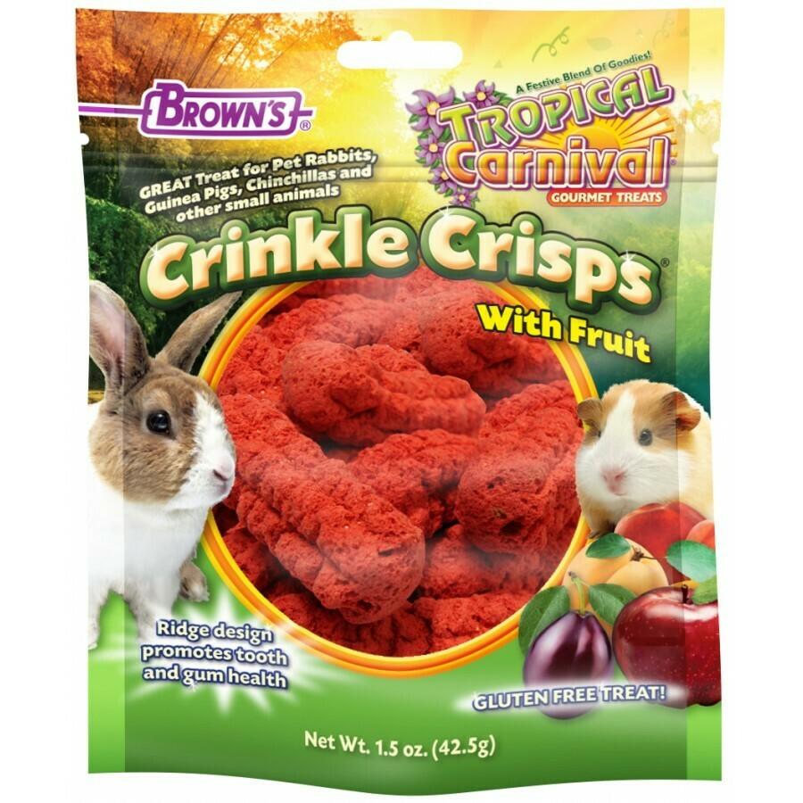 BROWN'S CRINKLE CRISP WITH FRUIT 1.5OZ.