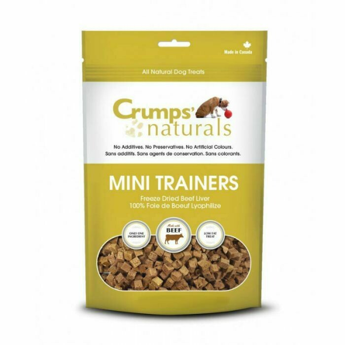 CRUMPS MINI TRAINERS BEEF LIVER 150G.