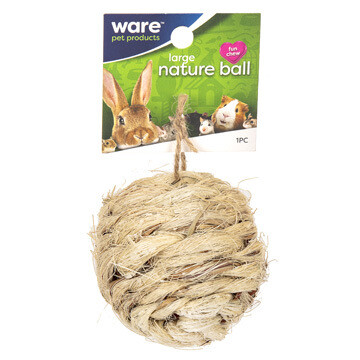WARE SM ANIMAL NATURE BALL W/BELL 2.5IN.