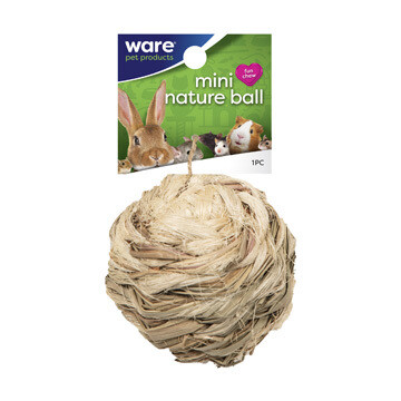 WARE SM ANIMAL NATURE BALL W/ BELL 4IN.