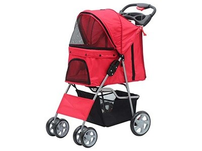 PAWISE PET STROLLER RED