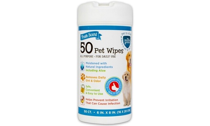 PIB PET CLEANING WIPES 50CT.