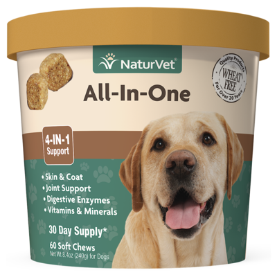 NATURVET ALL IN ONE SOFT CHEW 70CT.