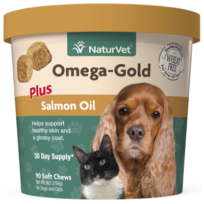 NATURVET OMEGA GOLD SOFT CHEW 90CT.