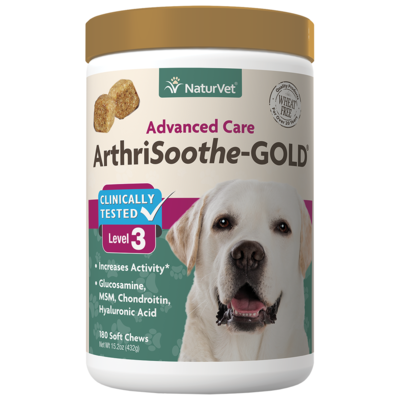 NATURVET ARTHRISOOTHE GOLD SOFT CHEW 180CT.