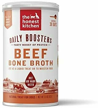 HONEST KITCHEN INSNTANT BEEF BONE BROTH W/ TURMERIC 3.6OZ.