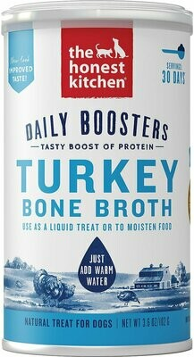 HONEST KITCHEN TURKEY BONE BROTH W/ TURMERIC 3.6OZ.
