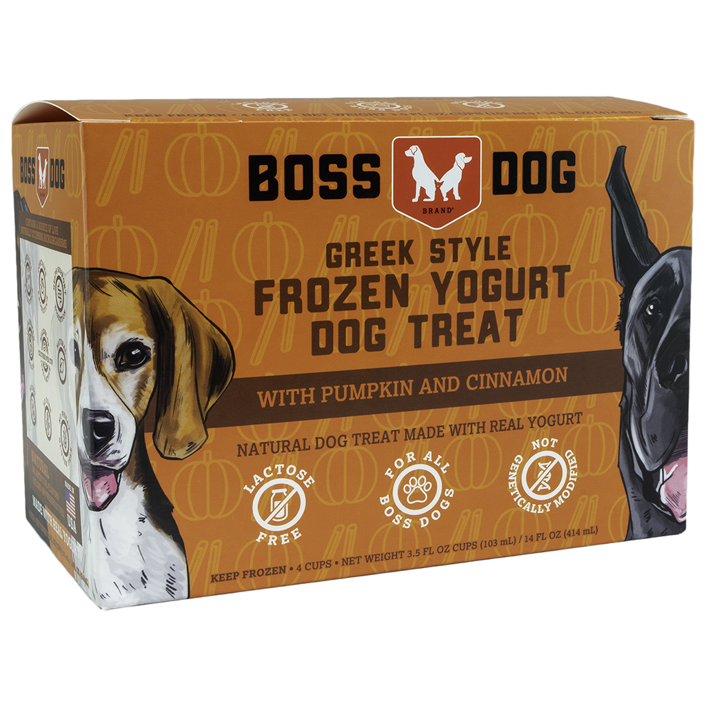 BOSS DOG YOGURT PUMPKIN & CINNAMON 4PK/104ML.