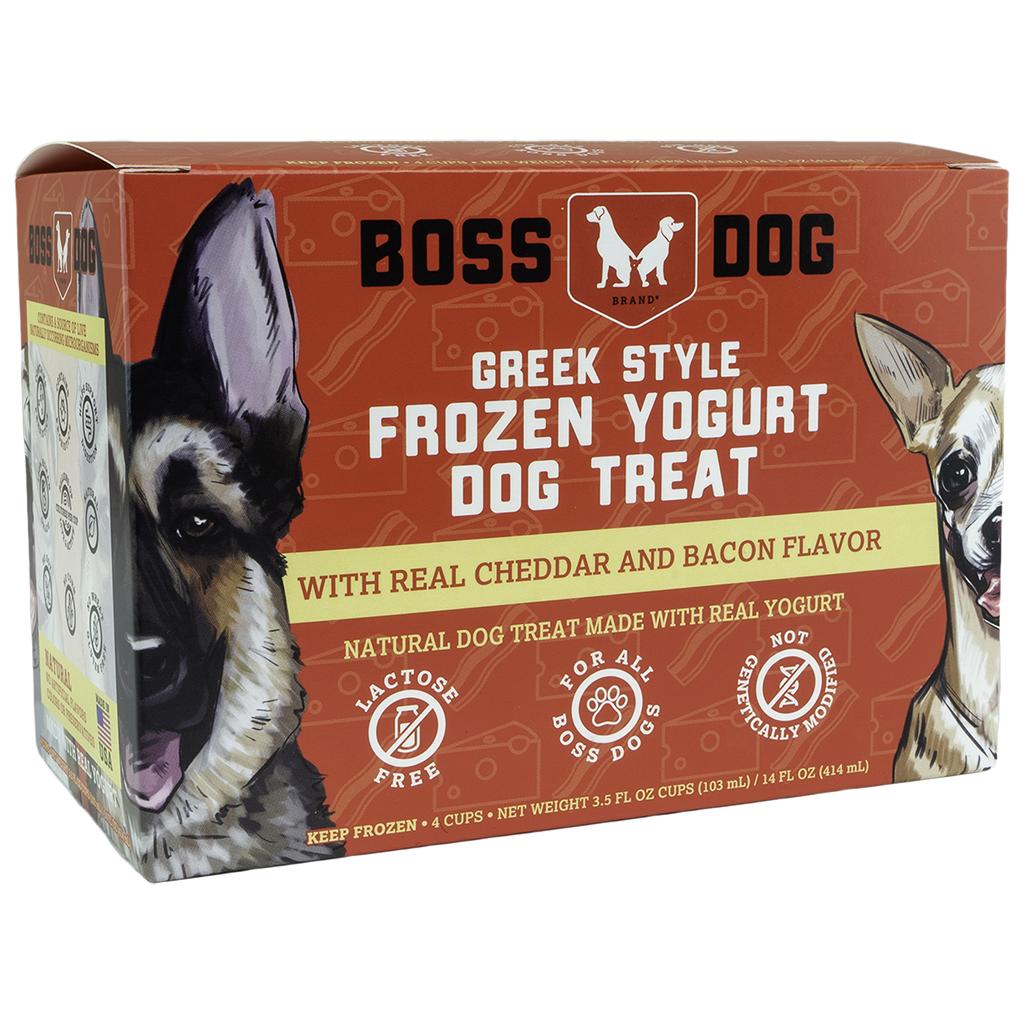 BOSS DOG YOGURT REAL CHEDDAR & BACON 4PK/104ML.