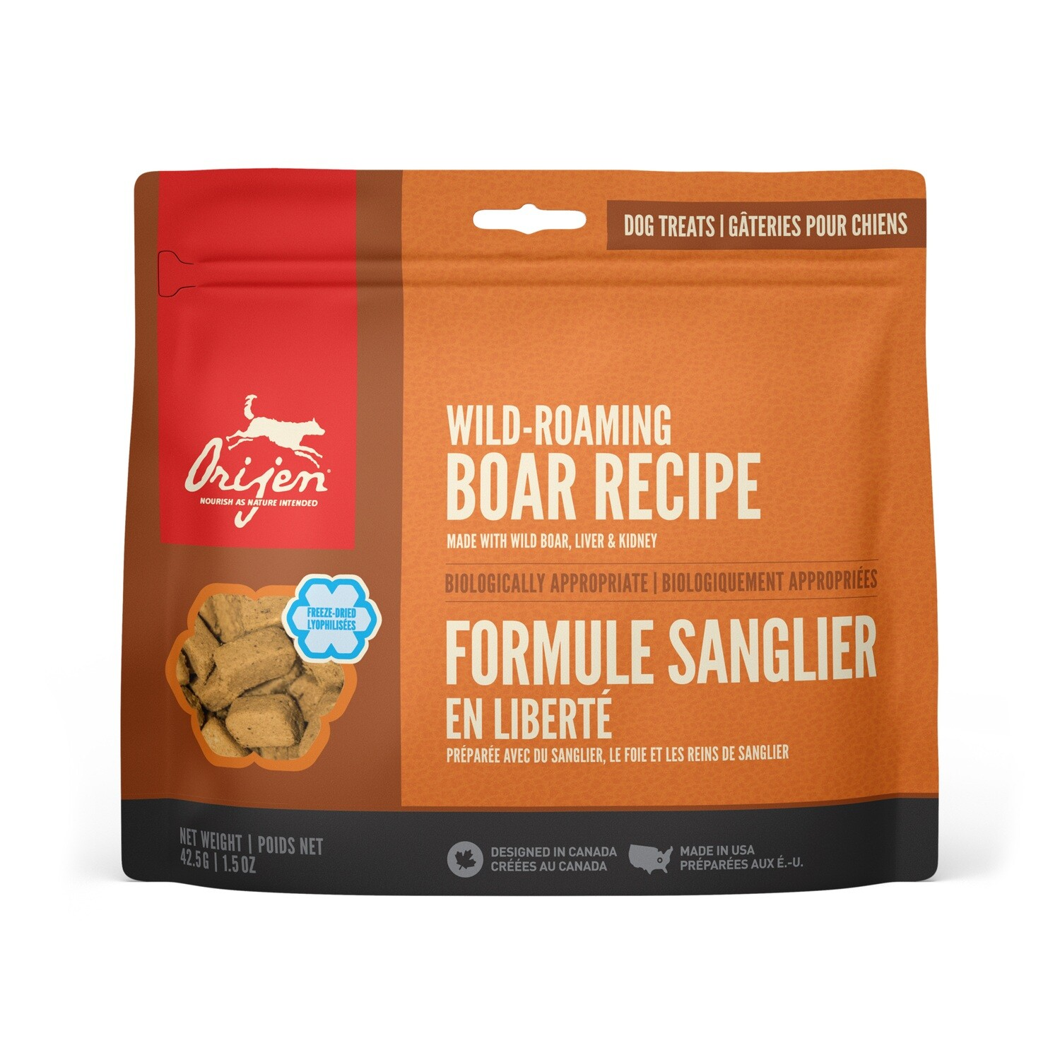 ORIJEN DOG TREAT BOAR 42.5G.