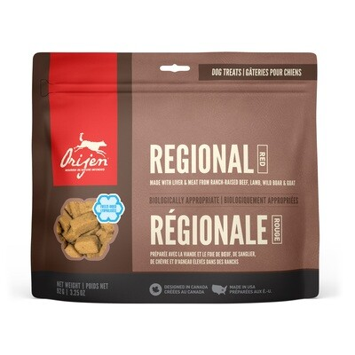 ORIJEN DOG TREAT REGIONAL RED 92G.