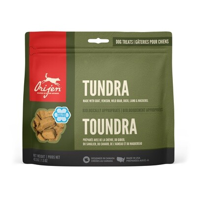 ORIJEN DOG TREAT TUNDRA 42.5G.