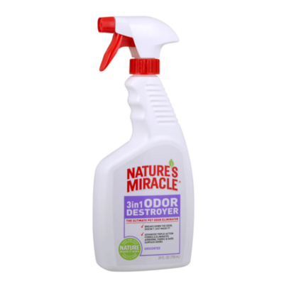 NATURES MIRACLE 3 IN 1 ODOR DESTROYER UNSCENTED 24OZ.