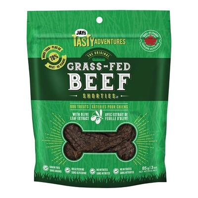 JAYS GRASS FED BEEF SHORTIES 85GM.