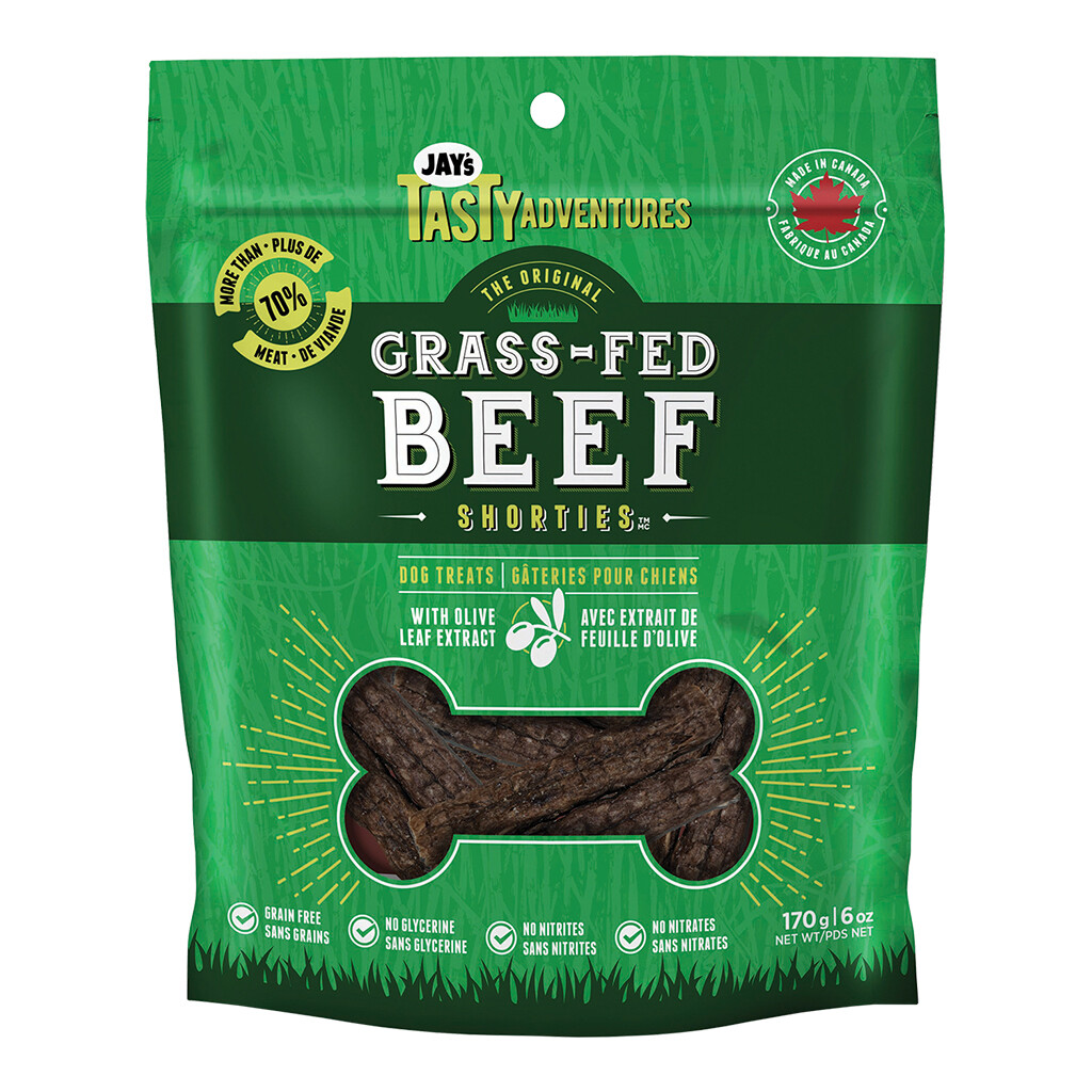 JAYS GRASS FED BEEF SHORTIES 170GM.