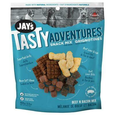 JAYS TASTY ADVENTURE BACON SNACK MIX 100G.