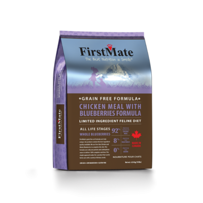 FIRSTMATE CAT CHICKEN & BLUEBERRIES 3.96LB.