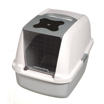 CATIT HOODED LITTER PAN GREY.