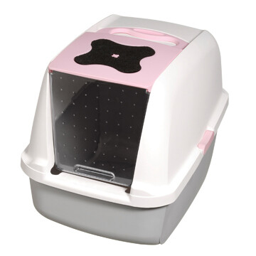 CATIT HOODED LITTER PAN PINK.