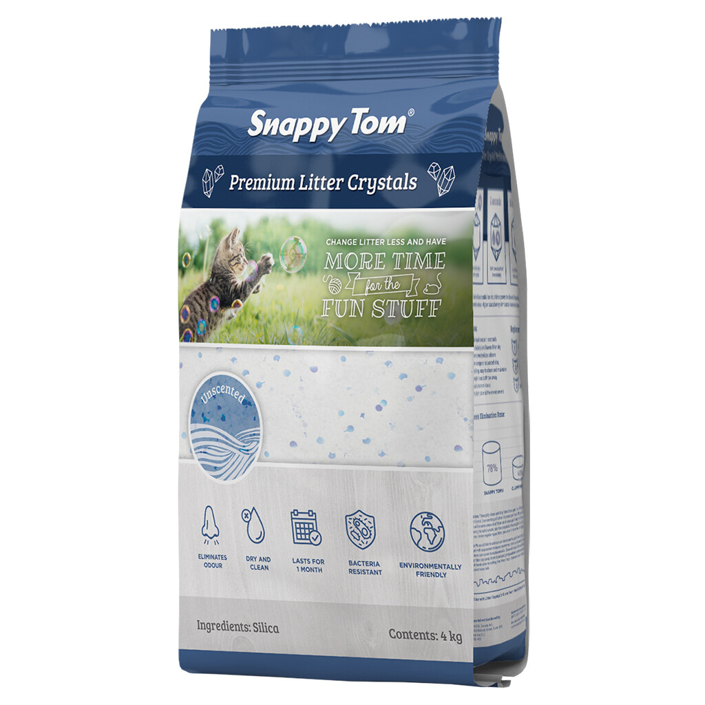 SNAPPY TOM CRYSTAL LITTER UNSCENTED 8.8LBS.