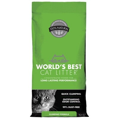 WORLDS BEST ORIGINAL CLUMPING LITTER 12.70KG.
