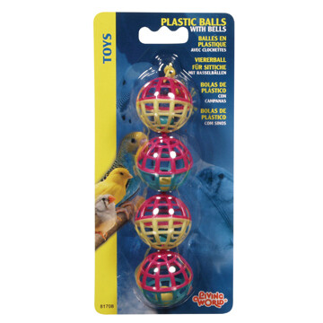 LIVING WORLD PLASTIC BALLS W/ BELLS.