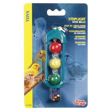LIVING WORLD PLASTIC HALF BALL W/ BELLS.