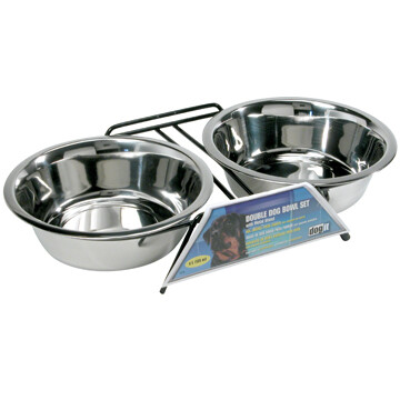 DOGIT SS DOUBLE BOWL XL 2 X 2L.