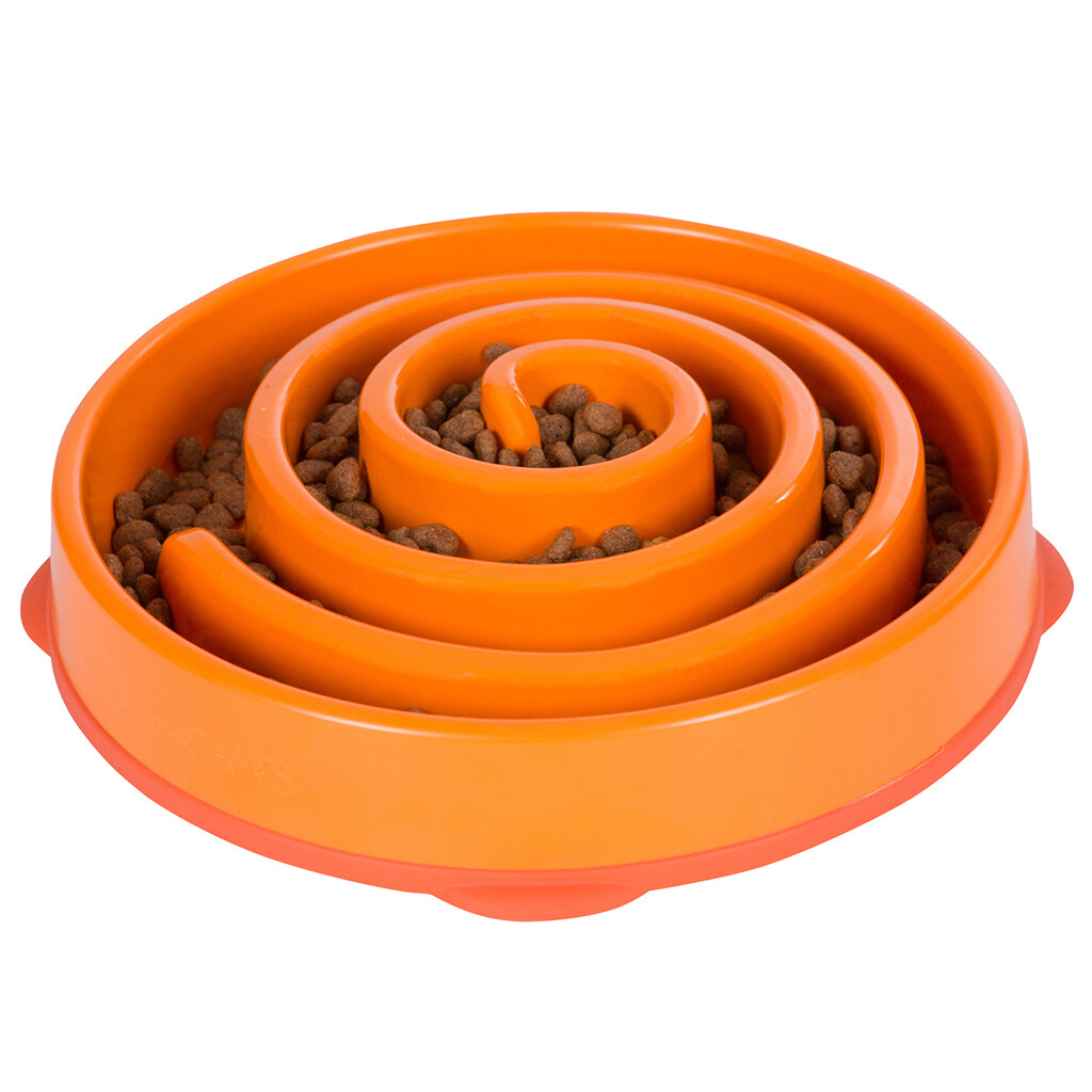 OUTWARD HOUND FUN FEEDER ORANGE LG.