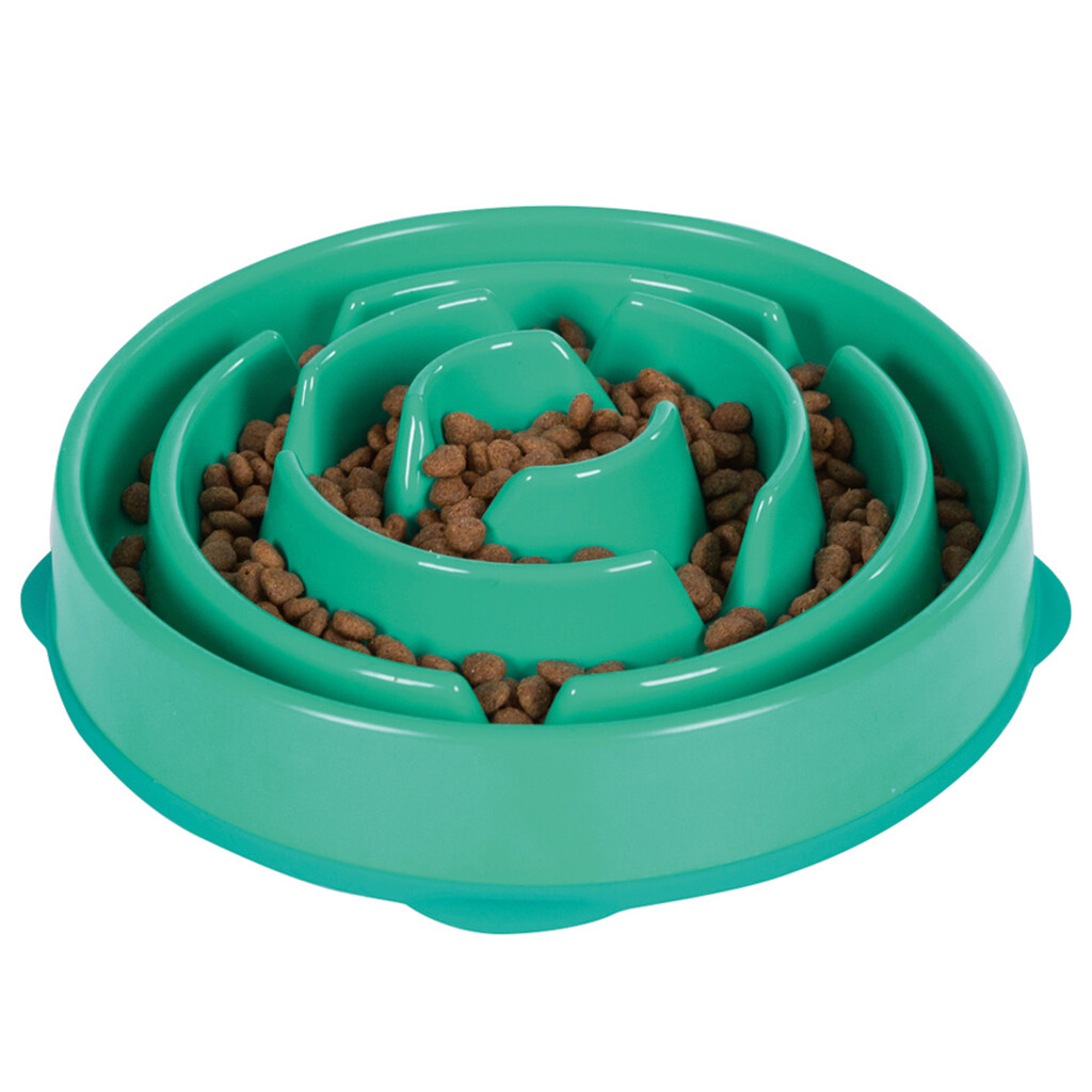 OUTWARD HOUND FUN FEEDER TEAL LG.