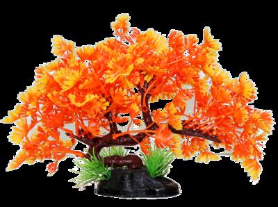 AL PLASTIC REPTILE PLANT PINK/ORANGE TREE 5IN.